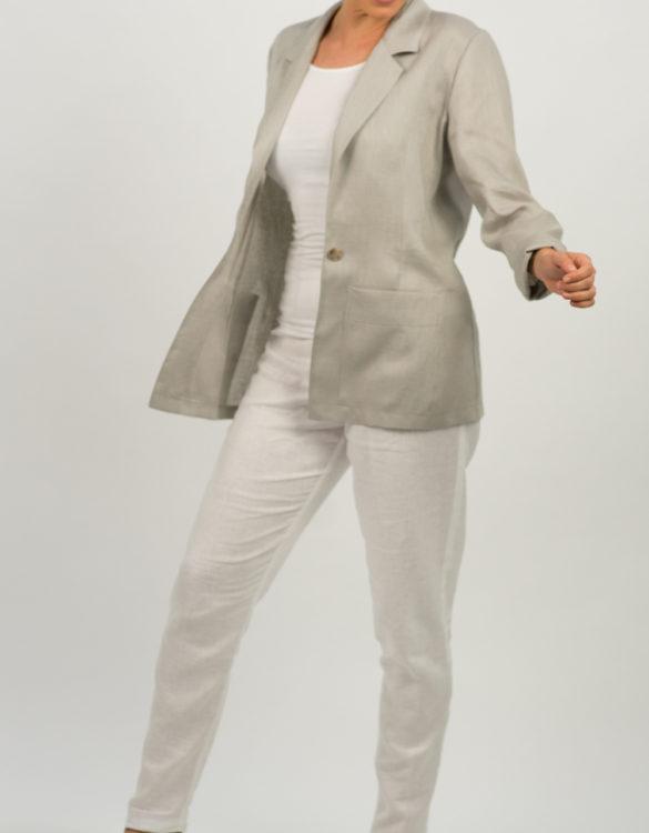 Unstructured Linen Jacket 539