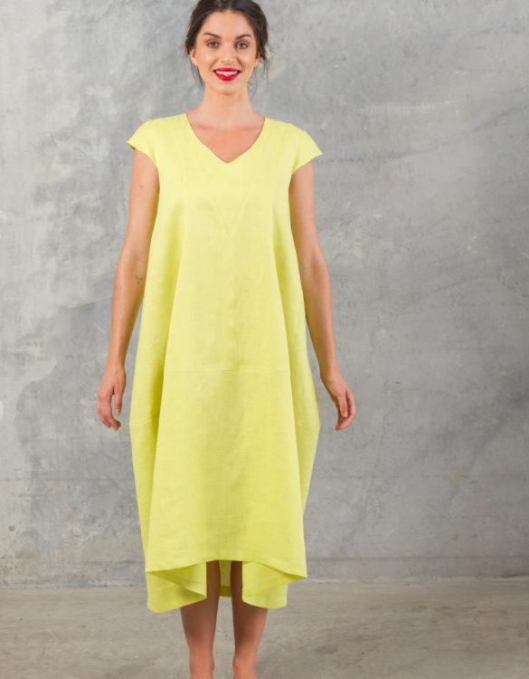 A Line Linen Swing Dress