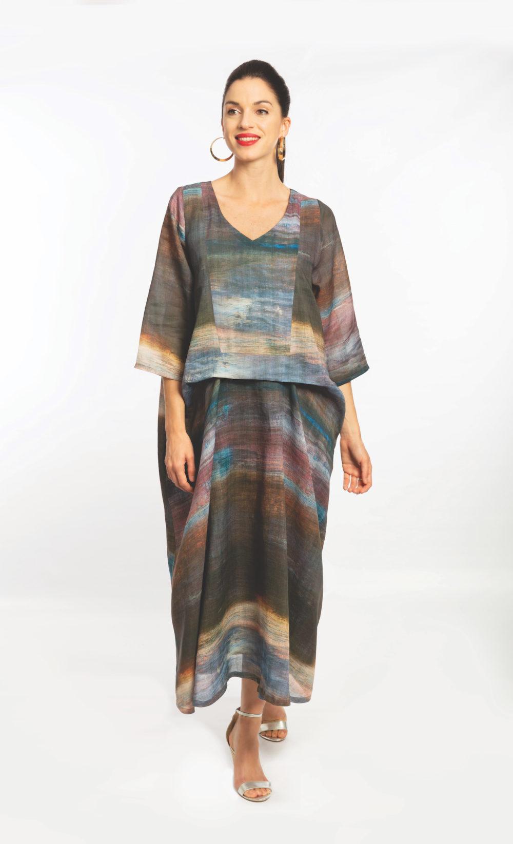 Printed Linen Drape