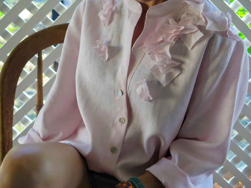 Flutter Shirt in Ballet Pink 2