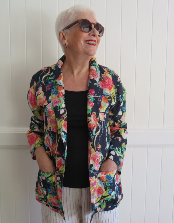 Linen, Floral, Jacket, Ladieswear, made in Australia