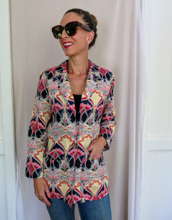 Art Deco Print Jacket, Beautiful Shape